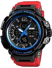 36fbc25df97e B Baosity Reloj Deportivo Digital de Cuarzo Sumergible a 50M Multifuncional  de Fecha