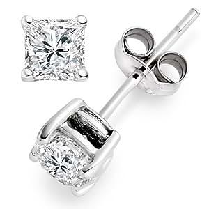 Diamond Manufacturers - Boucles d'Oreilles Femme avec diamanten - Or blanc 750/1000 (18 cts)