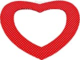 Best Red Mirrors - Red & White Spotty Large Wall Heart Shaped Review