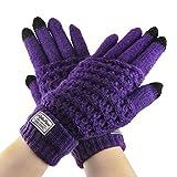L Y Liying Neu Unisex Touchscreen Handschuhe Fingerhandschuhe Strickhandschuhe für Winter Lila