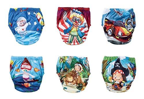 OZYOL Abenteuer 6er Pack Wasserdicht Baby Lernwindel Trainerhosen Unterwäsche Windeln Windelhose zum Toilettentraining Töpfchentraining (Set, 90)