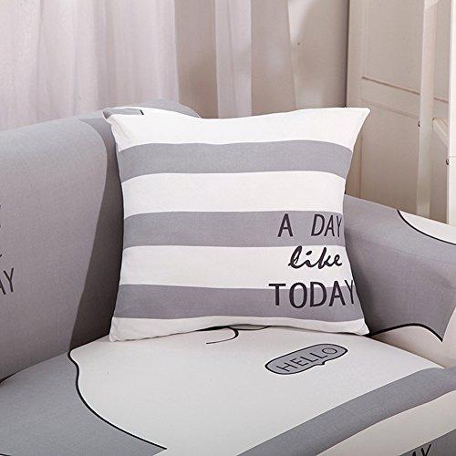 Stoff Sofa, Sofa Loveseat Sessel (Hotniu Stretch Bedruckt Sofa Couch Bezüge 1pcs Elastischer Stoff Sofa Schonbezug Universal Passform Sessel Loveseat Möbelschutz, Polyester, Pattern #12, Pillow Cover X 1)
