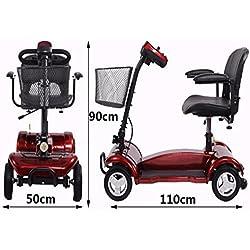 Cww Silla De Ruedas Eléctrica para Los Ancianos Discapacitados Cinturón Plegable Paseo El Scooter De Edad Avanzada
