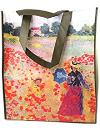 """Les Trésors De Lily [P0316] - Sac Shopping """"Claude Monet"""" les Coquelicots - 40x35x15 cm"""