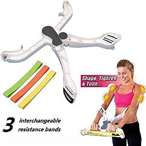eBuy Équipement de fitness pour bras Equipement de fitness pour le corps supérieur Programme d'exercice à domicile -Résistance Bagues d'exercices et levrettes et bras de tonalité