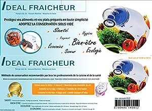 """Pompe sous-vide """"Idéal Fraîcheur"""" pour conserver les aliments et plats préparés en toute sécurité. Fourni avec adaptateur electrique,bouchon pour le vin, 5 sacs et un support de table"""