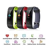 Muzili Fitness Armband IP68 Wasserdicht Fitness Tracker Sport Uhr Fitness Uhr Aktivitätstracker schrittzähler Pulsuhren Smart Watch Fitness Uhr für Kinder Frauen und Männerr(Black+Green) - 2