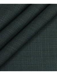 Don & Julio (D & J) Dark Greyish Green Self Design Premium Party Wear Three Piece Suit Fabric (Unstitched - 3.75...