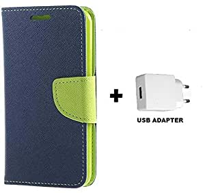 MAXLIVE Wallet Flip Cover With USB ADAPTER For Samsung Galaxy Young 2(G-130)