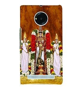 Fuson 3D Printed Lord Tirumala Tirupati Venkateswara Designer Back Case Cover for Yu Yuphoria - D684