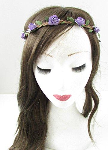 Rose Violet cheveux fleur couronne bandeau coiffe – Guirlande Boho festival B13 * * * * * * * * exclusivement vendu par – Beauté * * * * * * * *