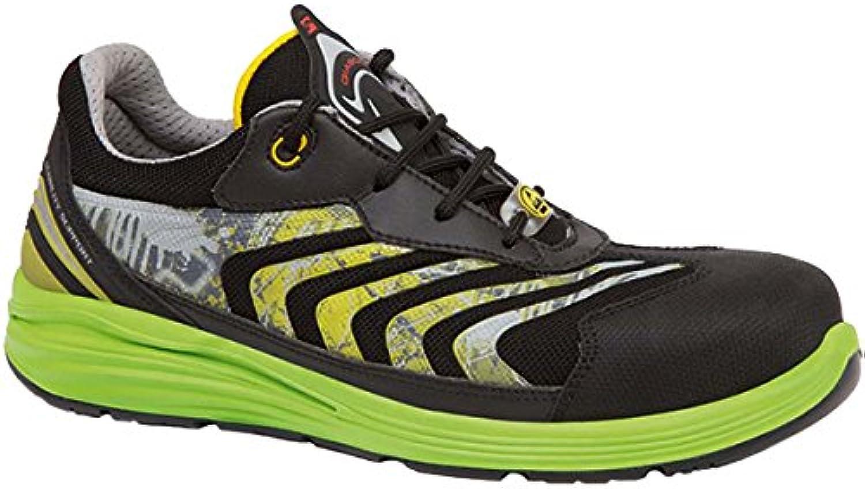 Giasco up071ev39 Virgo – Zapatos de seguridad bajo S1P negro/verde, multicolor, UP071EV44