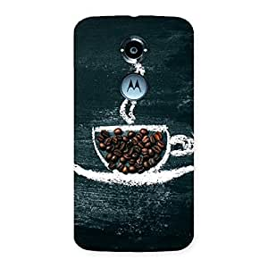 NEO WORLD Cup Coffee Back Case Cover for Moto X 2nd Gen