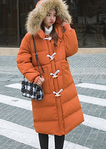 Xuanku Winter Fur Collar Cotton Women In The Long Paragraph Horns Deduction Knee Down Jacket