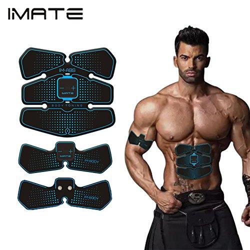 IMATE EMS Spezielle Farbmuskel Toning Pads für Arm / Bottom / Oberschenkel, IMATE Electric Body Toning Gürtel Muskel Toning Trainer, Multifunktions Workout Ausrüstung für Männer & Frauen