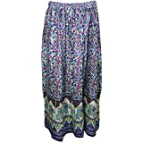 Womans Bohemian Skirt Animal Print Orchid Purple Long Skirts S