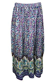 171f9aa3a4 Indiatrendzs Women Western Wear Cotton Pink Summer Long Skirts (Purple-1)