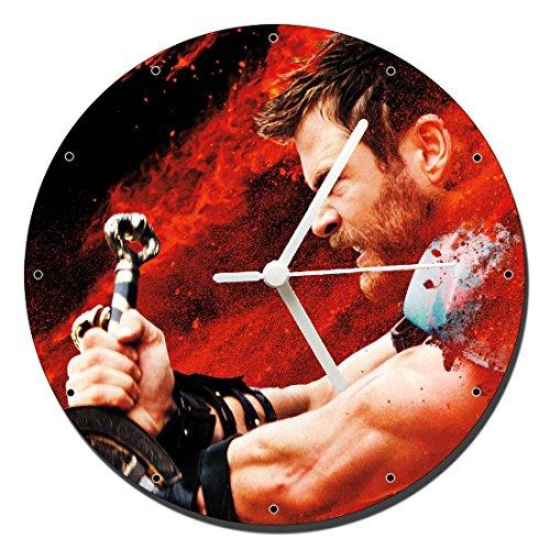 MasTazas Thor Ragnarok Chris Hemsworth B Wanduhren Wall Clock 20cm (Hemsworth B)