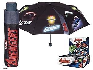 Perletti - Paraguas mini Marvel Comics Los Vengadores para niño - plegable y antiviento - Manual