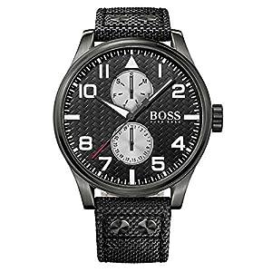 Hugo Boss 1513086 - Reloj con correa de acero para hombre, color negro / gris de Hugo Boss