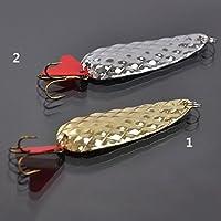 Cuchara de señuelo de pesca, cebos de pesca con forma de cuchara brillante, cebos de señuelo de pesca, cebos de metal de 8 g, señuelos de pesca Tamaño libre dorado