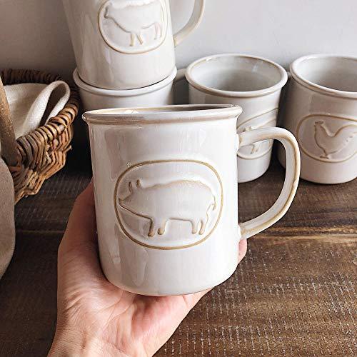 Proeskk Lieblingsmilch Tee Ton Land Wind Tier Tasse große Kapazität Tasse Kaffeetasse 301ml-400ml