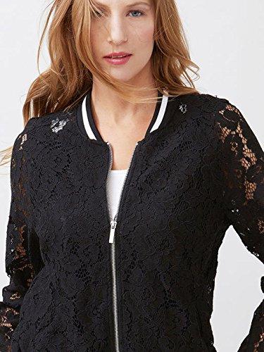 promo code 9d863 c2dc9 Oltre: giacca bomber donna in pizzo con profili a contrasto ...