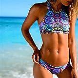 JaneDream Bandeau-Bikini mit Push-Up-BH, bedruckt, Größe M, M