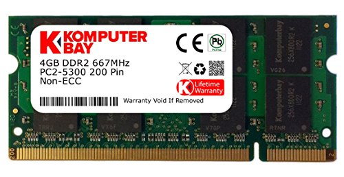 Komputerbay 4GB DDR2 SODIMM (200 pin) 667Mhz PC2 5400 / PC2 5300 CL 5.0 -