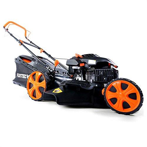floristikvergleich.de FUXTEC Benzin Rasenmäher FX-RM2050 mit 51 cm GT Selbstantrieb Motor Easy Clean 4in1 Motormäher Mulchen