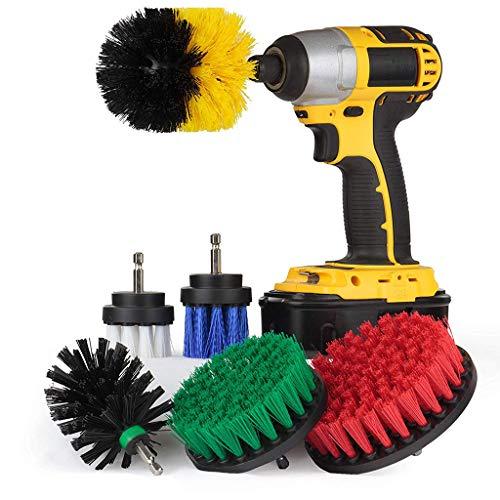 99native 6PCS bohrmaschine bürstenaufsatz,Power Scrubbing Auto Bürste für Auto, Teppich, Badezimmer, Holzboden, Waschküche exc (Mehrfarbig)