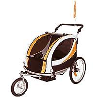 Tiggo Jogger Remorque à Vélo 2 en 1, pour enfants + Amortisseur 802-D03 JBT03N - Orange-Noir