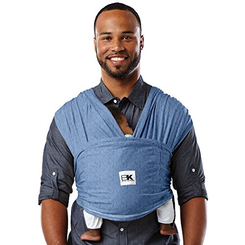 51PGdjgxW5L. SS500  - Baby K'tan Cotton Denim Baby Carrier (Small)