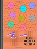 Graph Dimension Notebooks: Graph Paper Notebook 2 in 1 Composition Notebook , 105 Pages, 8.5 x 11 Inches