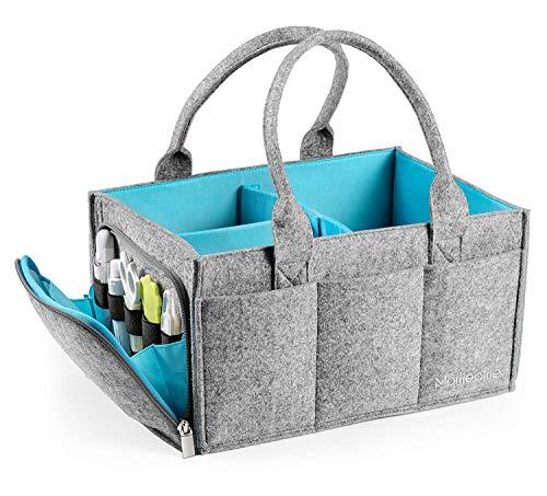 ragbare Filztasche für Kinderzimmer, Windel-Organizer für Aufbewahrungskörbe, Wickeltisch, Baby-Dusche, Geschenkkorb, Neugeborene ()