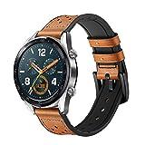 Leafboat Compatible Huawei Watch GT Bracelet,22 mm Cuir Souple avec Insert en...