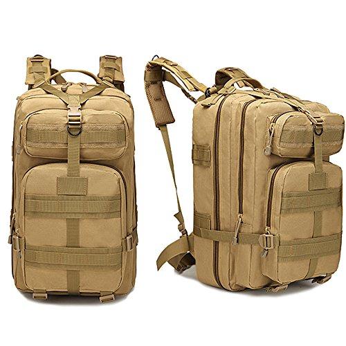 Militare tattico zaino grande Army 3Day Assault Pack molle Bug out bag zaino Zaino per escursionismo campeggio trekking caccia 40l con 1PC fibbia, Tan Tan