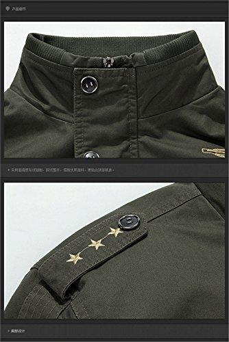 WS668 Homme Fashion Classique Transition Blouson High Quality Casual Bomber Manteau Mens Coat Stand Collar Jackets Kaki#1