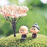 Bestim incuk Miniatur Fairy Garden Opa & Oma Ornament Puppenhaus Blumentopf Figur DIY Outdoor Decor Home Dekoration