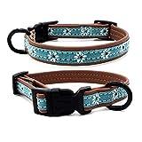 Sunshay Pet Hundehalsband Mode Blume Hundehalsband mit Glocke Breakaway Tuch Halskette Netter Katzenkragen