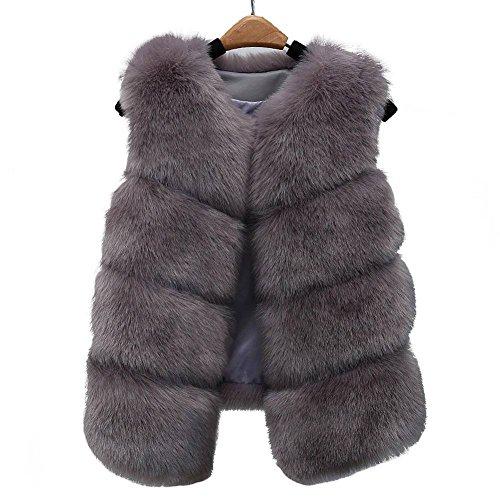 AKAUFENG - Manteau sans manche - Femme Gris