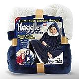AUTOECHO Fleece Pyjamas mit Ultra-Plüsch-Decke Frauen heißesten warme Kleidung Mann's Kopf TV-Decke weich faul Outdoor-Winterjacke Flanell Nighty für Familie
