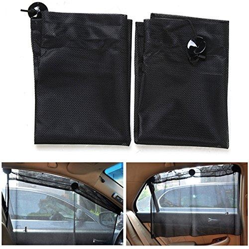 Preisvergleich Produktbild Alamor 70 * 53 Cm Car Sauger Vorhang Fenster Sonnenschirm Retractable Mesh Gewebe