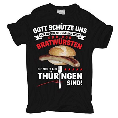 Männer und Herren T-Shirt Thüringer Bratwurst
