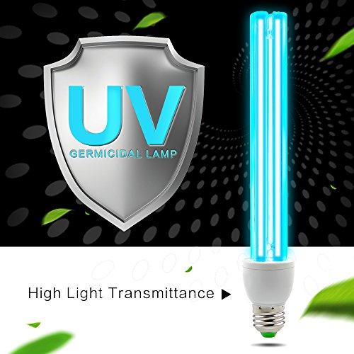 AMZTOLIFE - UV Ozon Sterilisation Lampe - UV Desinfektionslampe - uv Lampe Desinfektion Antibakteriell Rate 99% keimtötende Lichter für Badezimmer, Schlafzimmer, Küche, Büro, Hotel (Keimtötendes Licht)