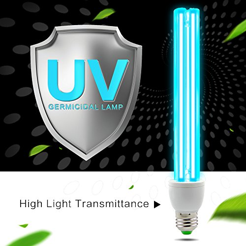 AMZTOLIFE - UV Ozon Sterilisation Lampe - UV Desinfektionslampe - uv Lampe Desinfektion Antibakteriell Rate 99% keimtötende Lichter für Badezimmer, Schlafzimmer, Küche, Büro, Hotel (Keimtötende Uv-licht)