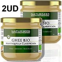 Naturseed Ghee Organico - Mantequilla Clarificada Bio Pura Ayurveda - ecologico - Sin Lactosa - Vacas