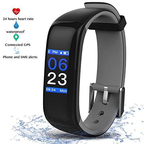 Fitness Armbänder, Smart Fitness Tracker mit Herzfrequenzmesser,Schrittzähler, Schlaf-Monitor, Aktivitätstracker, Entfernung,Kamera-Fernsteuerung,Vibrationswecker Anrufen/SMS/GPS/Kalorien Zähler für Andriod IOS - Zähler-monitor Kalorien