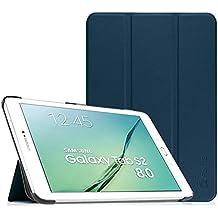 Fintie Samsung Galaxy Tab S2 8.0 Funda - Slim Fit Smart Funda Carcasa con Stand Función y Imán Incorporado para el Sueño/Estela para Samsung Galaxy Tab S2 8.0 pulgadas (Azul Oscuro)