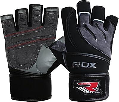 Authentisch RDX Rindsleder Training Handschuhe Gewichtheber Sporthandschuhe Fitnesshandschuhe Herren L4G von RDX